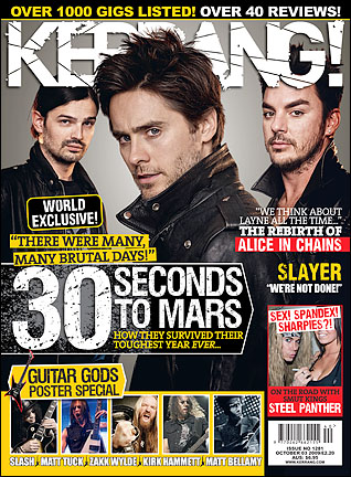 30 Seconds To Mars - Kerrang cover